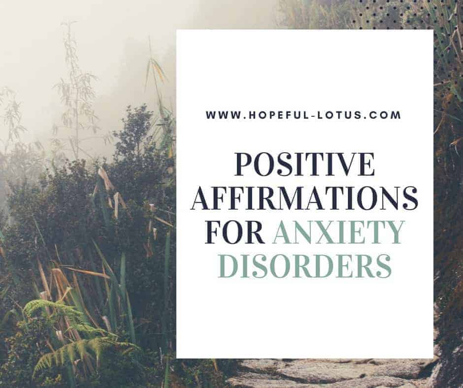 Using positive affirmations for anxiety can help calm symptoms of anxiety disorders by working with the law of attraction. In this post I provide affirmations for general anxiety disorder, social anxiety disorder, panic attacks, obsessive compulsive disorder and trauma & PTSD. Incorporate these mantras for anxiety into your meditation or mindfulness practice for natural anxiety relief.
