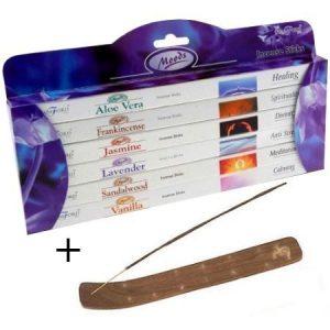 incense set with holder