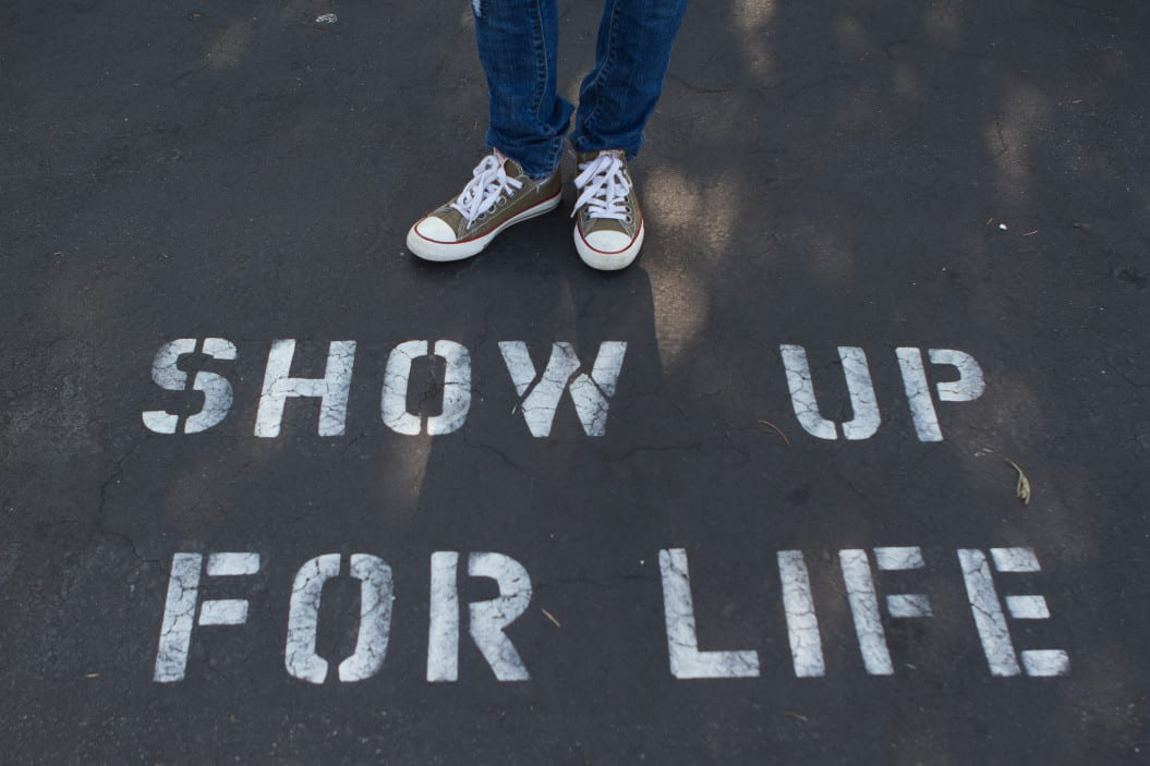 show up for life street art
