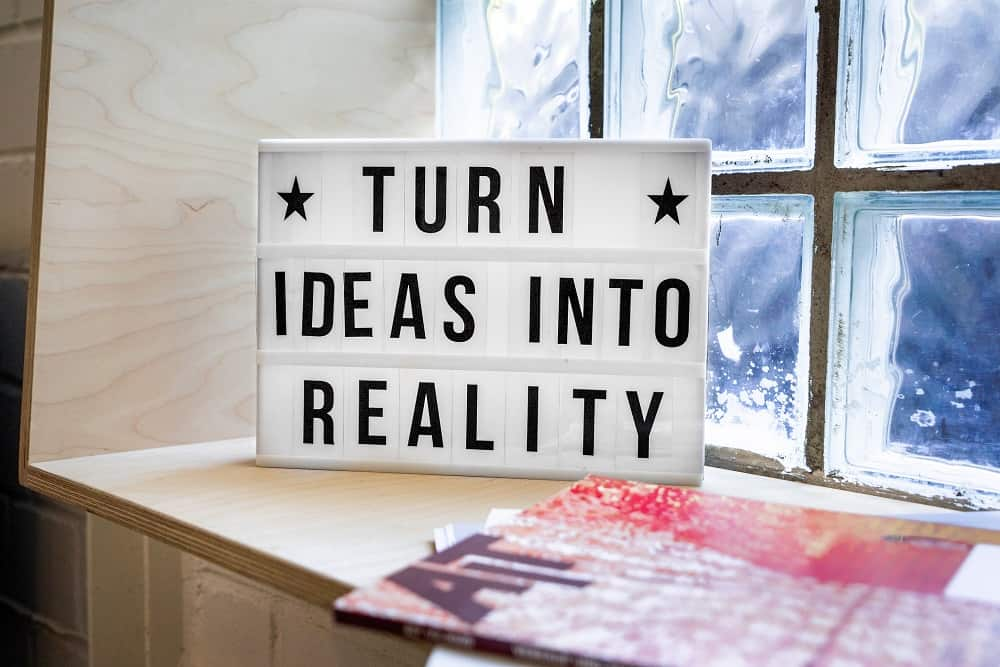 turn ideas into reality board