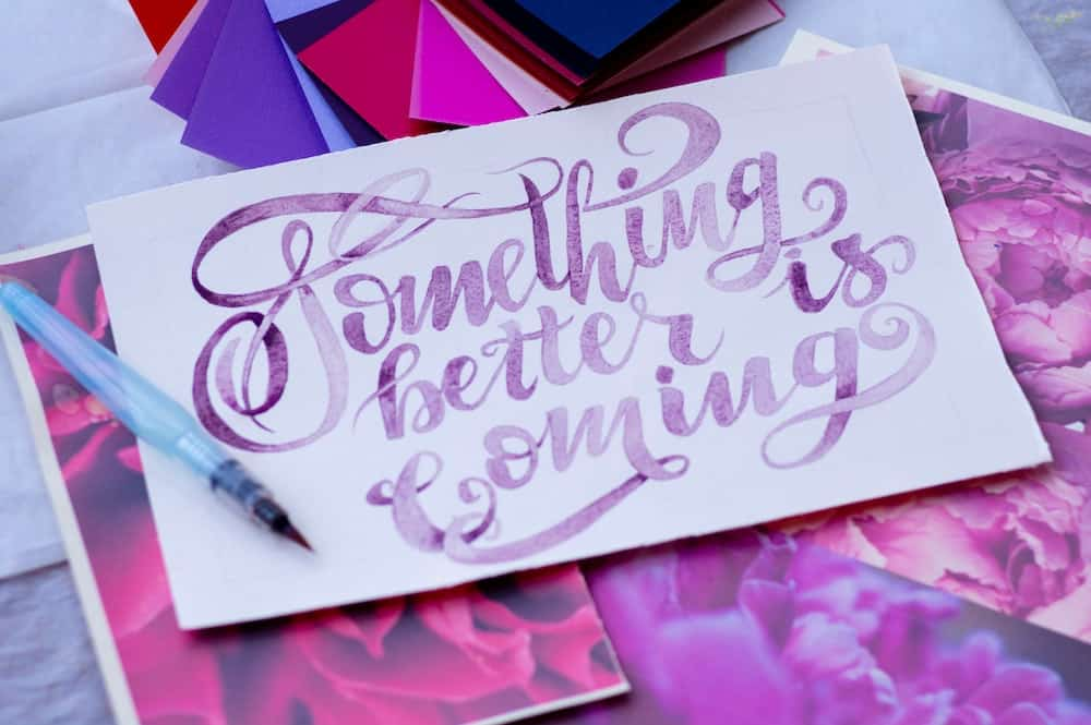 something better is coming affirmation card