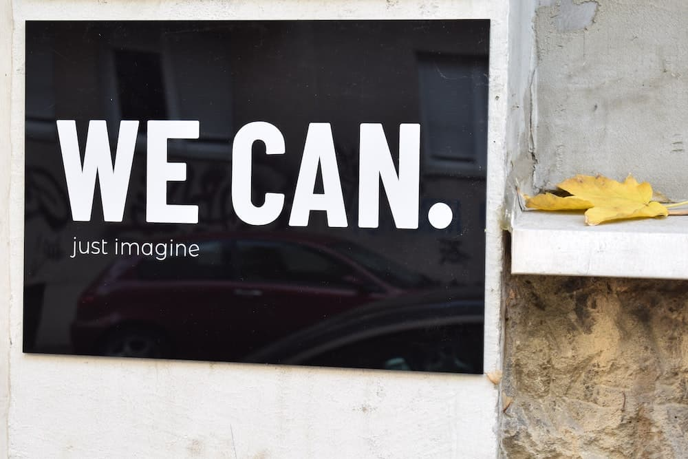 we can. just imagine. inspiring quote