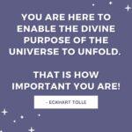 eckhart tolle divine purpose quotes